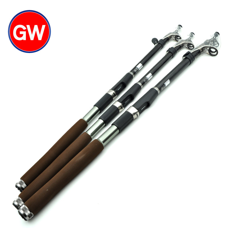 New special guangwei kikunami 3.0m3.6 meters 2.4m2.7 m tune superhard carbon sea pole throwing pole fishing gear suit