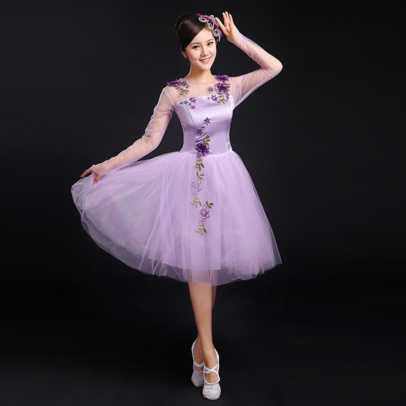 New square dance dance dance modern dance costumes stage performance clothing clothes adult dance skirt costumes female chorus clothing