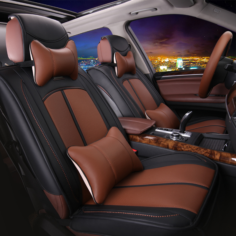 New summer car seat cushion four seasons general wholly surrounded by leather full leather car seat cushion summer liangdian