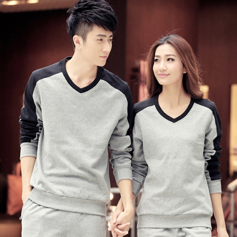 New winter sports sweater spring and autumn long sleeve v-neck pullover sweater couple shirt for men and women size code
