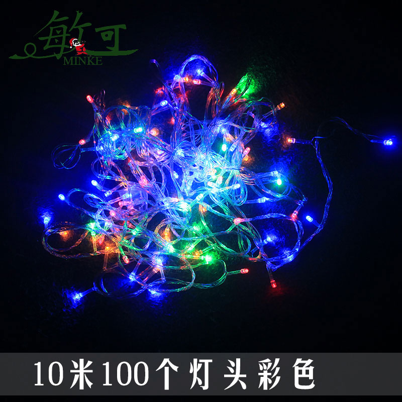 New year festive christmas lights led lantern string lights flashing string lights string of holiday lights waterproof lights neon stars
