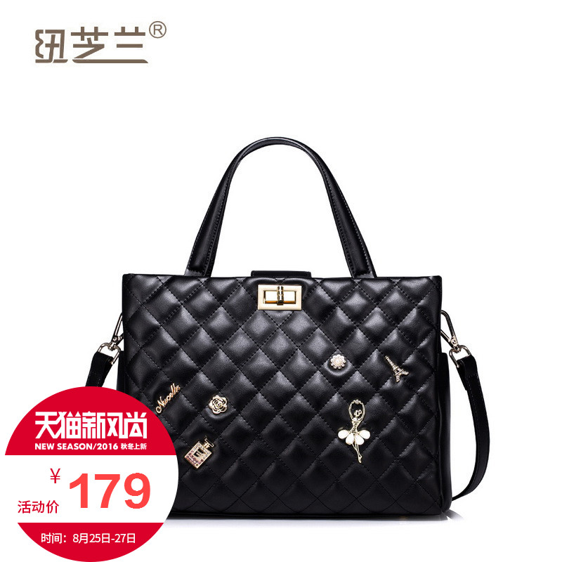 New york orchid 2016 spring korean version of the influx of new small fragrant wind quilted handbags handbag cow leather large capacity tote bag