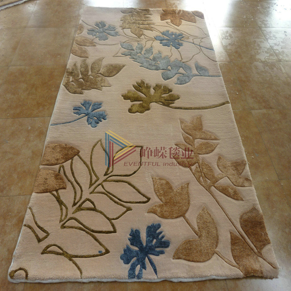 New zealand wool handmade carpet industry towering plus silk leaves carpet living room carpet * can be customized
