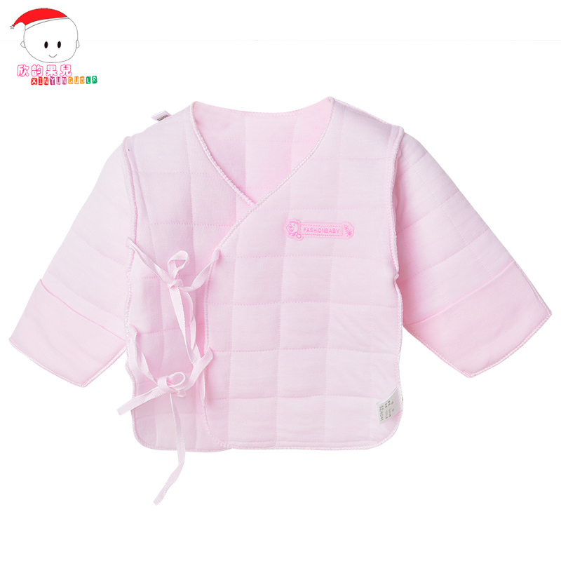 Newborn baby clothes and a half back padded cotton thermal underwear shirt newborn baby fall and winter clothes anti wet clothes 0--3 months