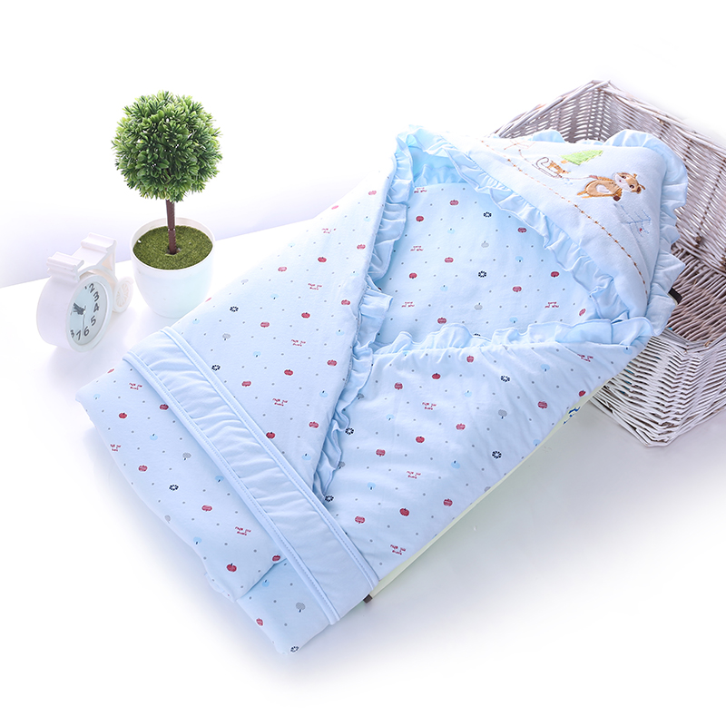 Newborn baby hold is coated cotton blankets spring and padded warm newborn infants and children hold quilt