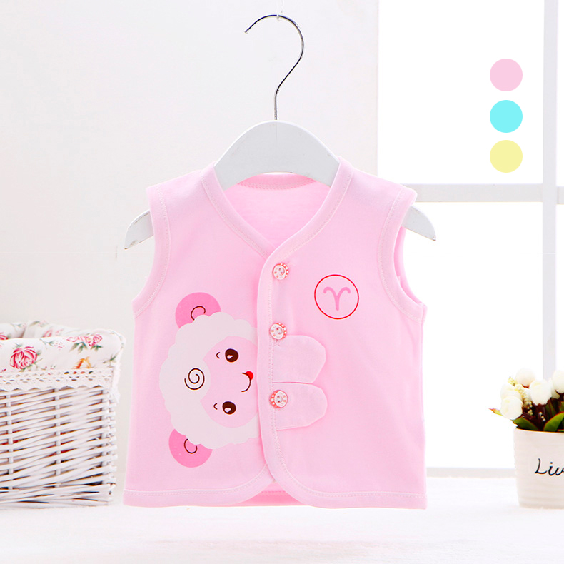 Newborn infants and young children baby vest vest vest baby boys and girls single cotton vest vest spring and autumn clothes