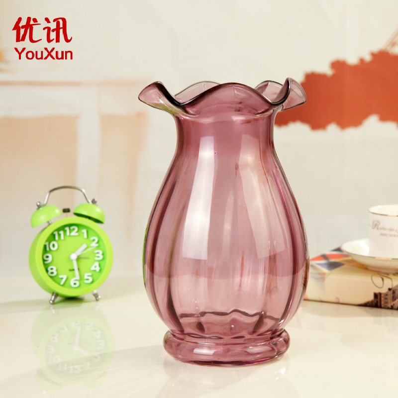 [News] excellent classical reliefs european modern creative stained glass vase transparent vase ornaments living room