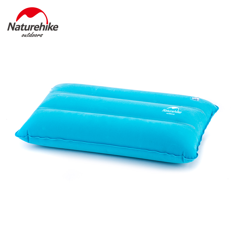 Nh outdoor recreational camping inflatable pillow travel pillow nap pillow flocking inflatable travel pillow portable pillow