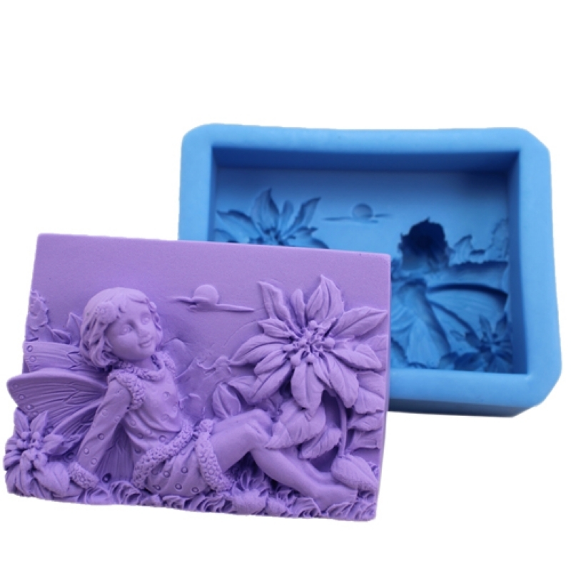 Nicole R0566 huevos elf flower fairy soap molds candle mold soap mold silicone cake mold soap chapter