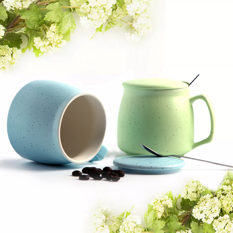 Nijs starry creative capacity ceramic mug breakfast cup milk cup with lid office water cup