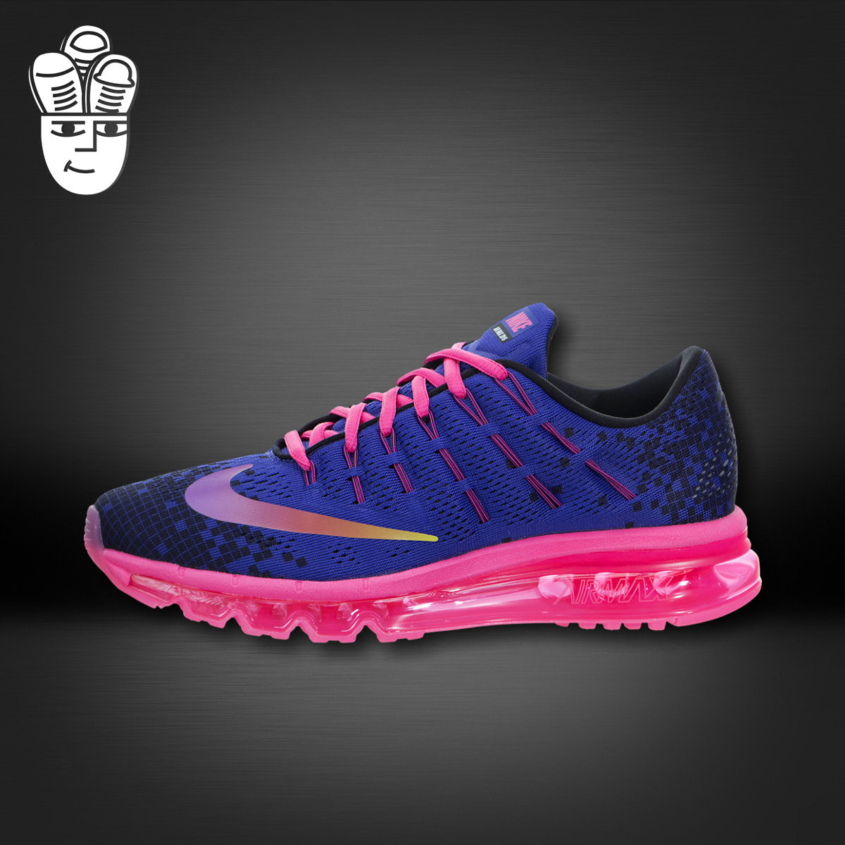 a2a87f28b34 Get Quotations · Nike air max 2016 print (kids) nike entire palm cushion  running shoes adolescent girls