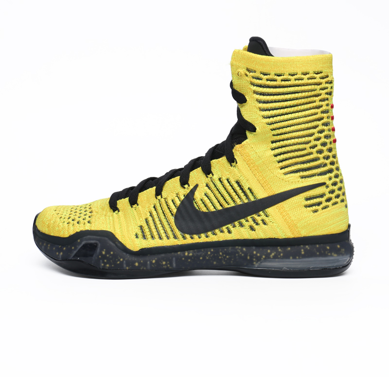 on sale 234df 276bf Get Quotations · Nike nike kobe x elite kobe 10 elite coda kasaï night  black and yellow 802762
