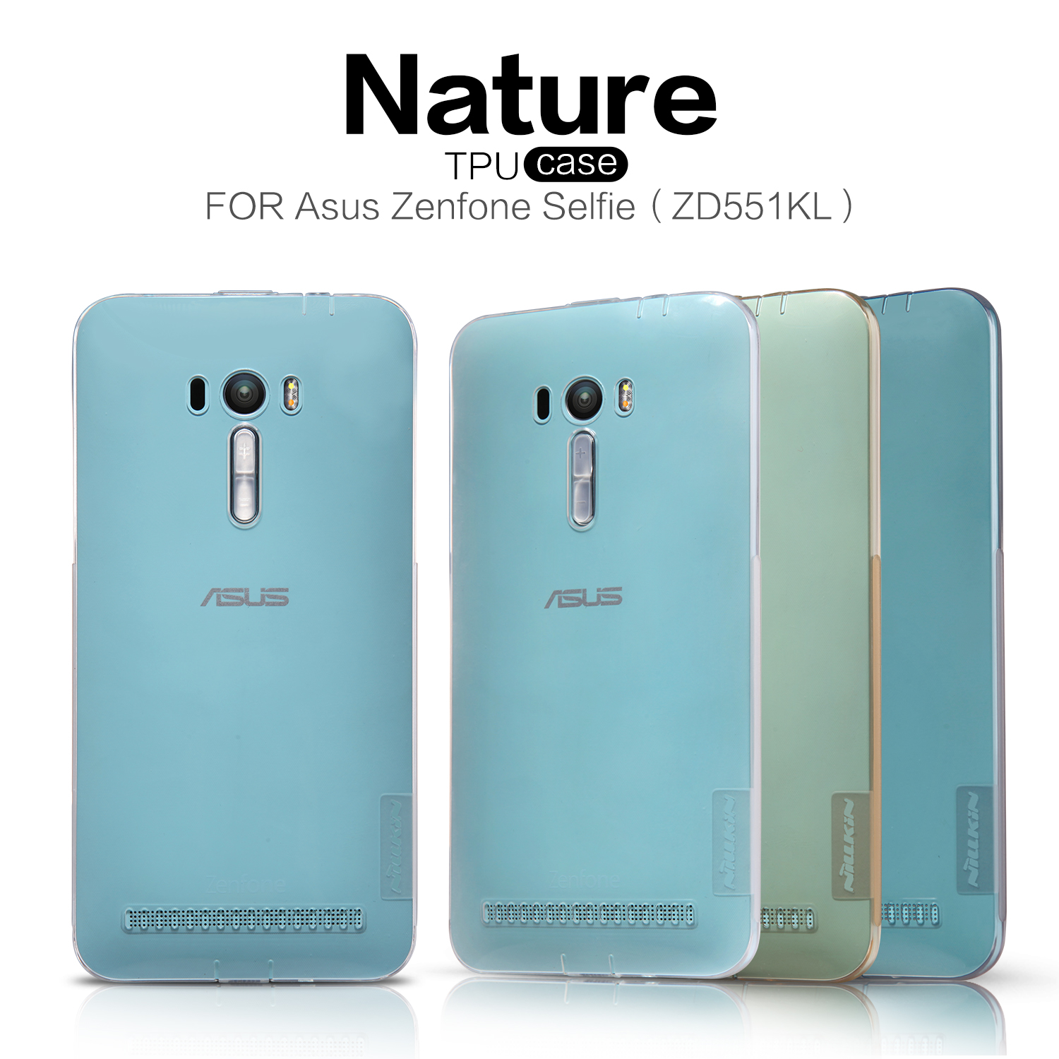 Nile gold asus zenfone selfie ZD551KL phone shell protective shell mobile phone shell transparent protective cover