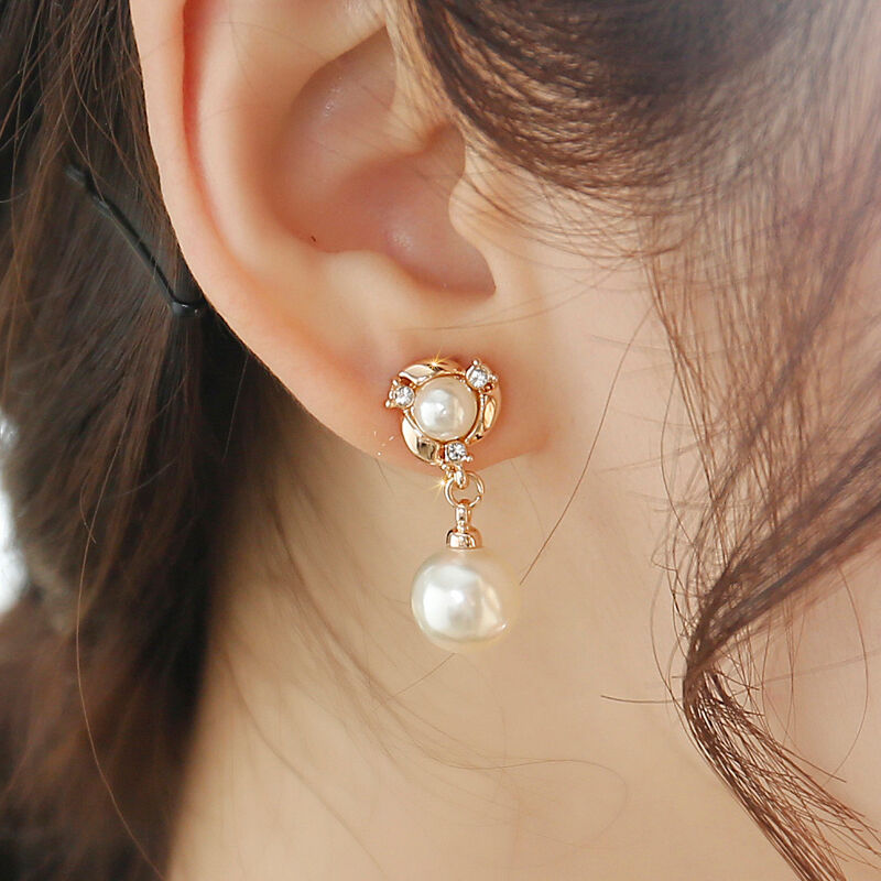 No pierced ear clip earrings female korean jewelry earrings female korean fashion temperament simple pearl earrings needles hypoallergenic