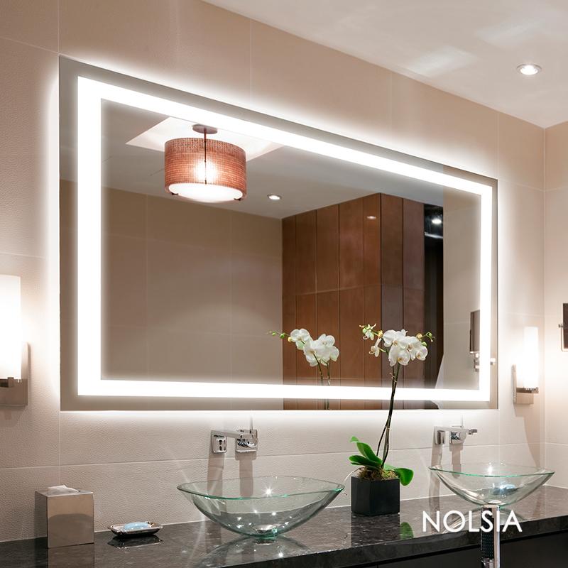 Get Quotations Nolsia Luxury Bathroom Mirror Led Lighted Makeup Modern European Wall