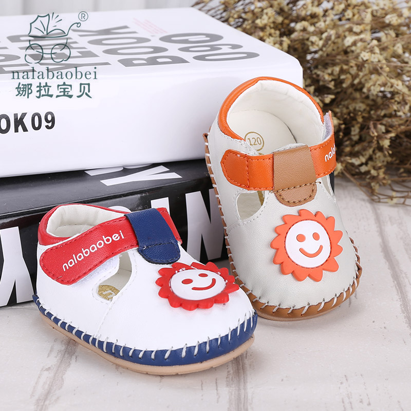 Nora baby baby baby shoes soft bottom step before baby shoes men handmade shoes in spring and autumn loss prevention bb shoes breathable velcro