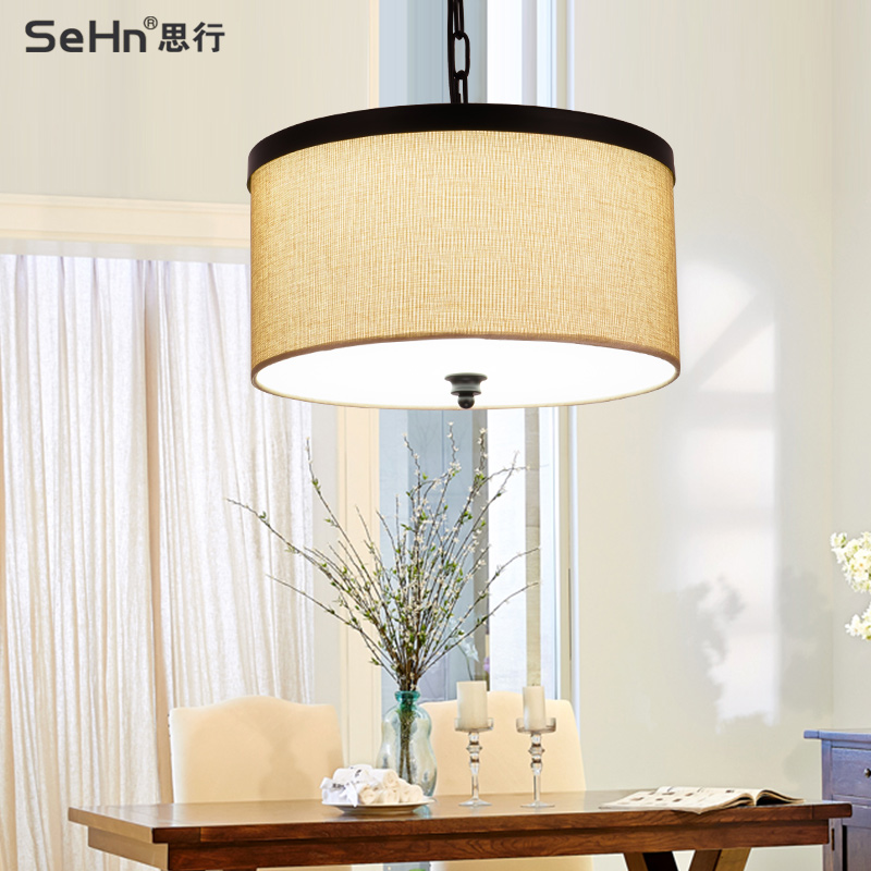 Nordic american country ceiling minimalist living room lamp bedroom lamp creative study led round ceiling with restaurant