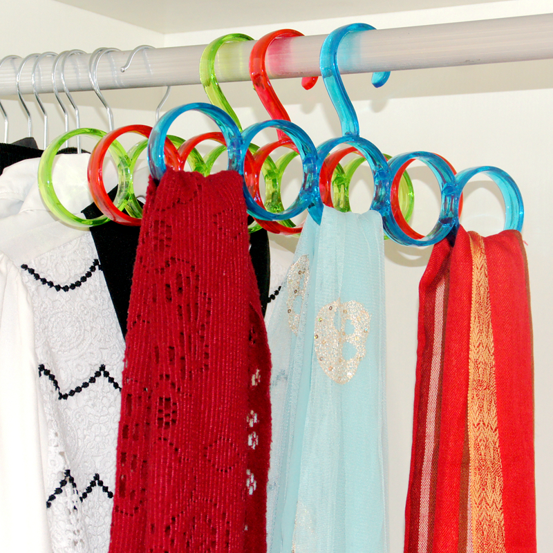 Nordic circle scarf rack environmental multifunction scarf scarves scarf rack tie rack wardrobe hangers 2 installed
