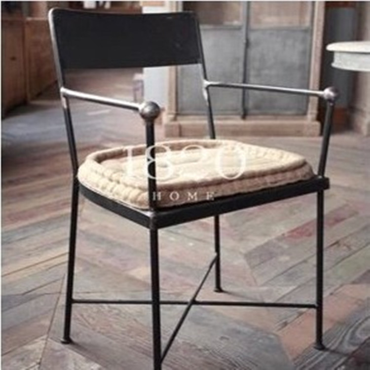 Nordic expression american country to do the old retro dining chairs wrought iron sofa chair fashion casual cafe chair