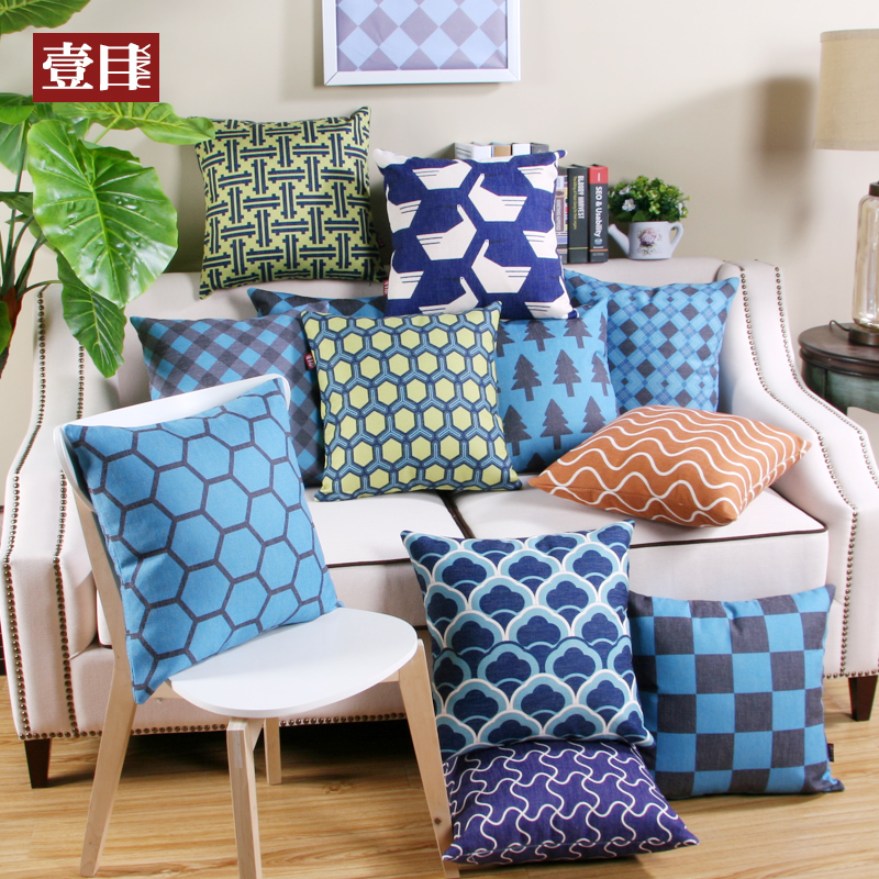 Nordic style geometric pattern printing large sofa cushion pillow cotton pillow cushions hold pillow cushion covers custom