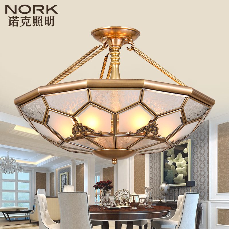 Nork/knox half copper ceiling lights all european copper ceiling lights hall aisle lights lamp bedroom lamp 01719