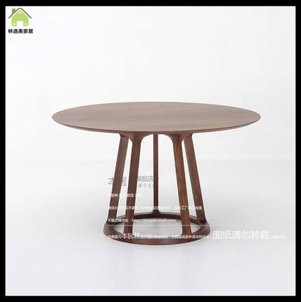 North american black walnut wood dining table round wood dining table scandinavian minimalist table custom furniture minimalist now