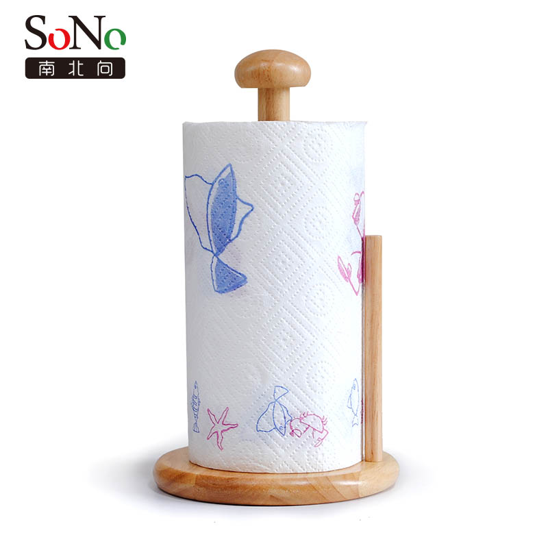 North and south to the rubber wood kitchen towel rack roll holder european creative kitchen paper towel holder paper roll holder