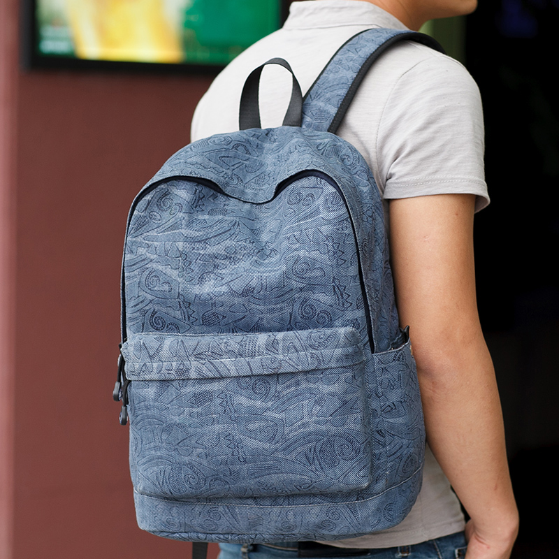 North hamgyong province high school students schoolbag male college students korean fashion trend backpack shoulder bag men casual canvas bag