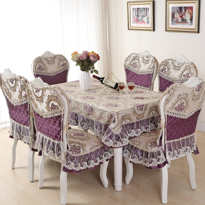 Nova gretl lace fabric table cloth seat upholstery coverings suit tablecloth table cloth chair set to increase custom made to order