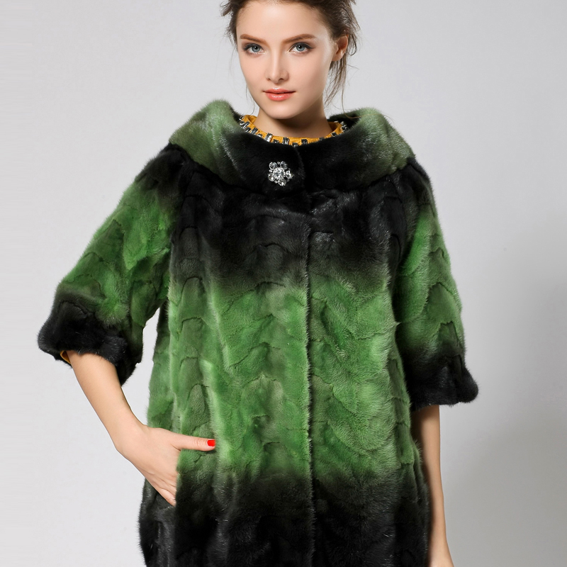 Novo lan 2013 new mink fur mink whole mink collar mink coat korean version of the new fur haining fight mink d777