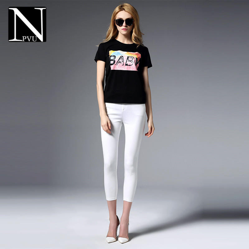 NPVU2016 summer new waist pant ms. slim thin section was thin feet pencil pants fashion 8702