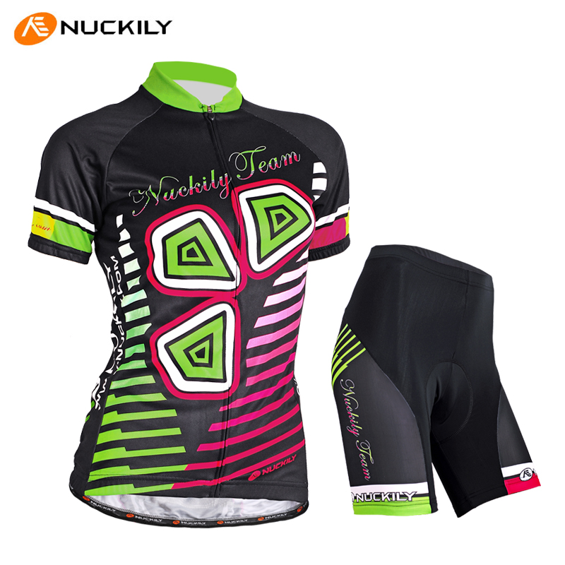 Nuckily summer cycling jersey short sleeve suit female bike riding pants shorts shirt clothes custom clothing