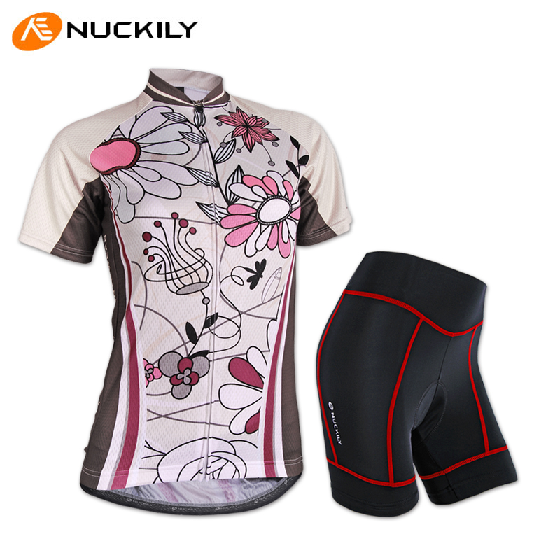 Nuckily summer new jersey short sleeve cycling jersey short sleeve cycling jersey bike clothes suit female