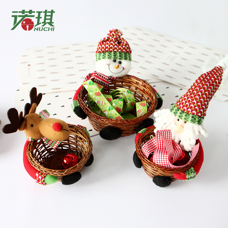 nuoqi christmas decorations christmas christmas christmas candy candy jar candy basket basket counter decorations