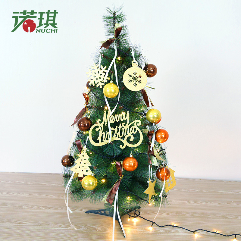 Nuoqi desktop small mini christmas tree pine needle christmas tree christmas tree package 90cm christmas decoration