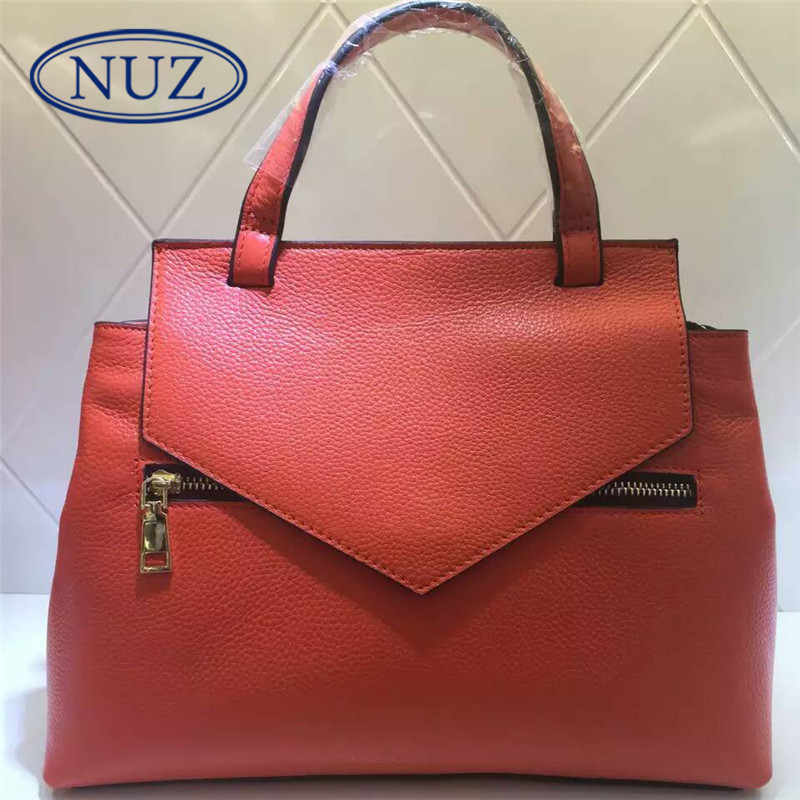 Nuz 2016 summer new fashion handbags shell bag ladies bag wild influx of pure color fold 0310