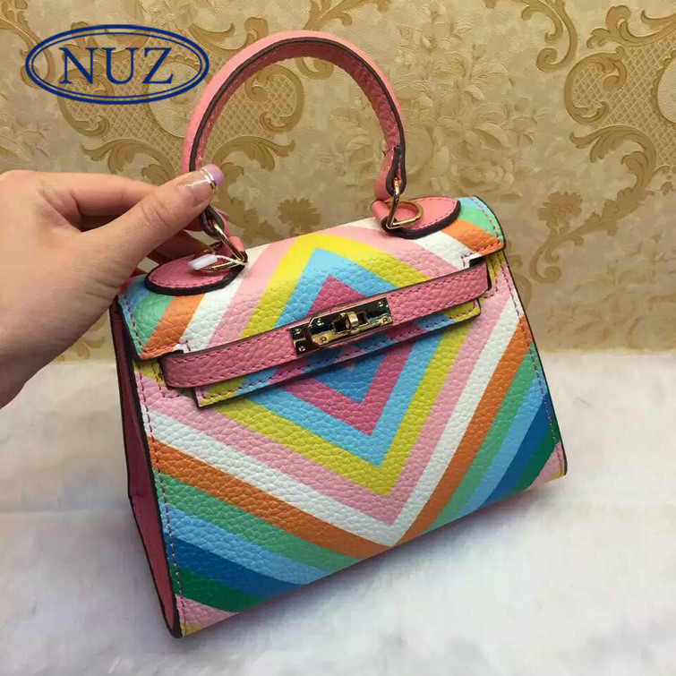 Nuz 2016 summer new ladies bags pillow type seven color embossed shoulder bag handbag 0645