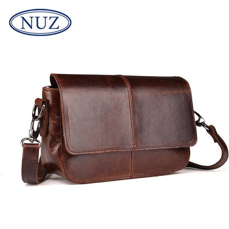 Nuz dermatolyphic leather messenger handbag mini package cover type cross retro oil wax leather shoulder bag ladies handbag 0627