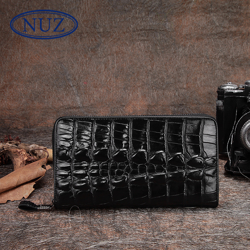 Nuz embossed leather men clutch bag 2016 new korean version of the classic business casual crocodile wallet 8947