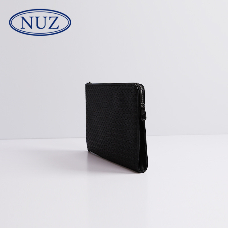 Nuz handmade fashion simple woven leather man bag business casual clutch bag wild leather bag tide 8004