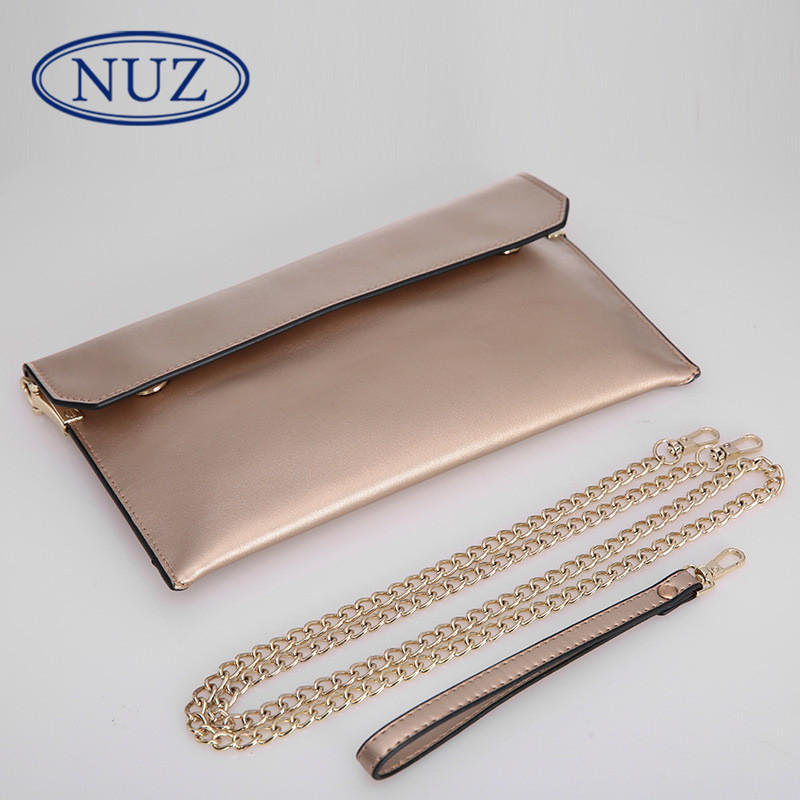 Nuz ms. clutch clutch bag korean version of a solid color leather fashion handbags 2016 new chain of small square bag female 5392
