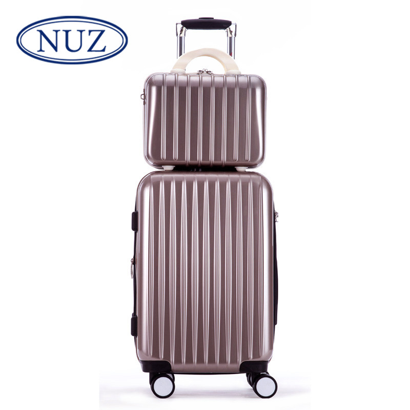 Nuz picture box trolley suitcase caster female boarding luggage suitcase password line fashion personality tide male 4256