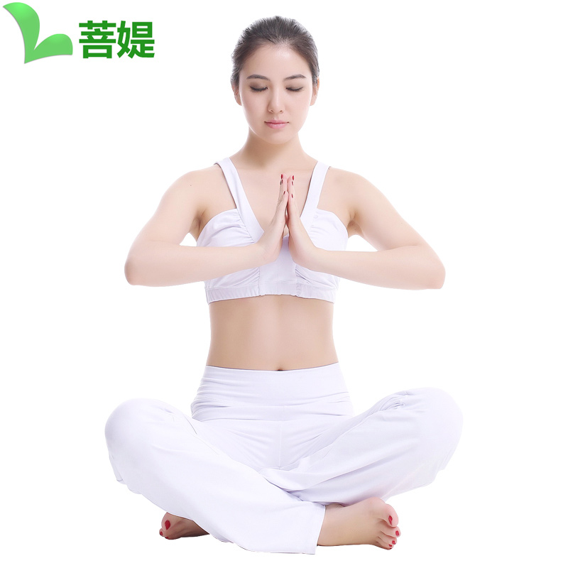 [Nylon custom] bodhisattva ti 2016 autumn new white master yoga clothes suit yoga female yoga clothes yoga even more