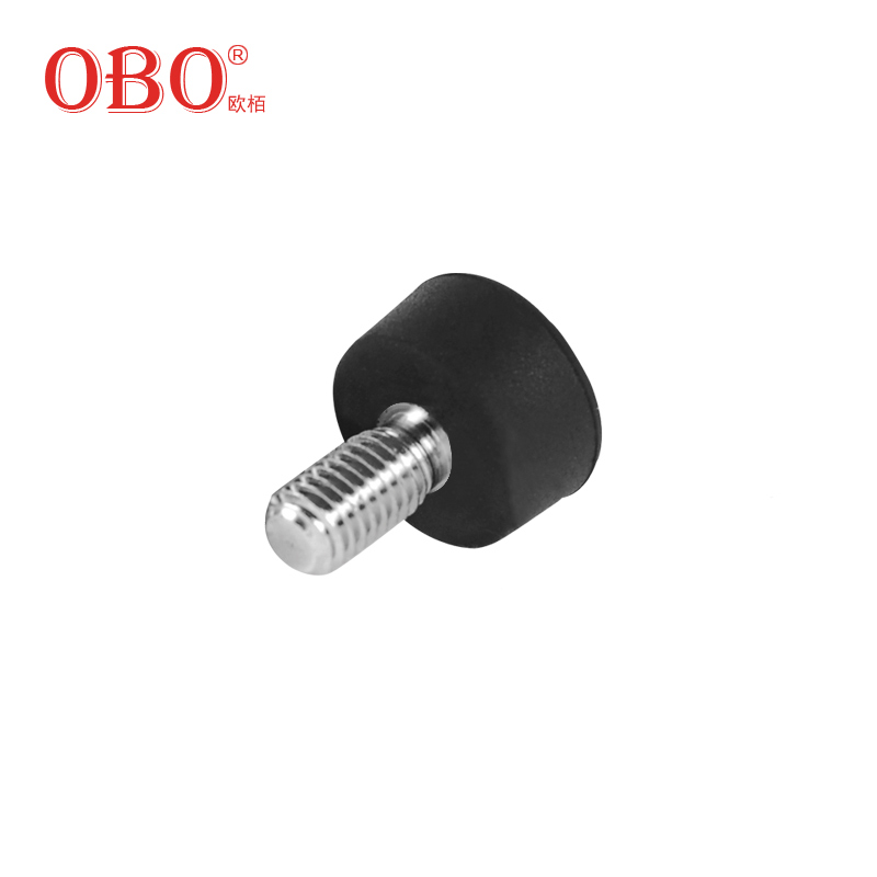 Obo oubai tripodal footpads accessories universal rubber (3 pack) applicable m8 screw wire interface slip resistant