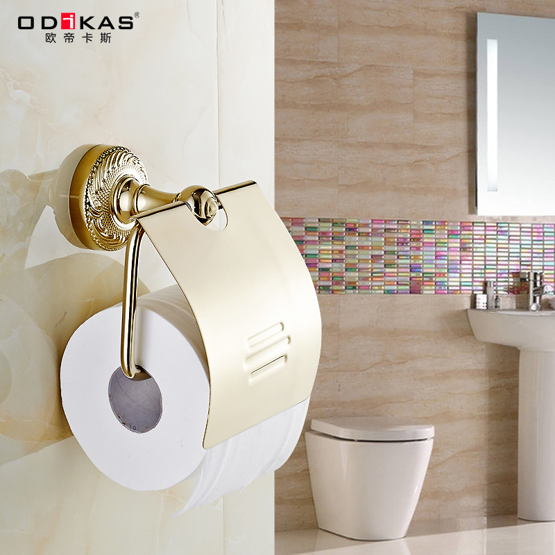 Ode cass all copper and gold antique bathroom towel rack toilet paper roll holder toilet paper holder