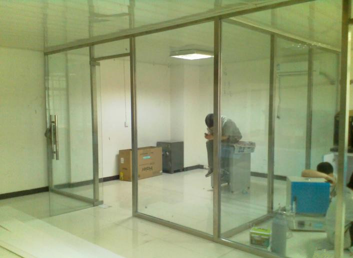 Office glass partition wall aluminum alloy stainless steel glass partition wall high partition wall soundproof