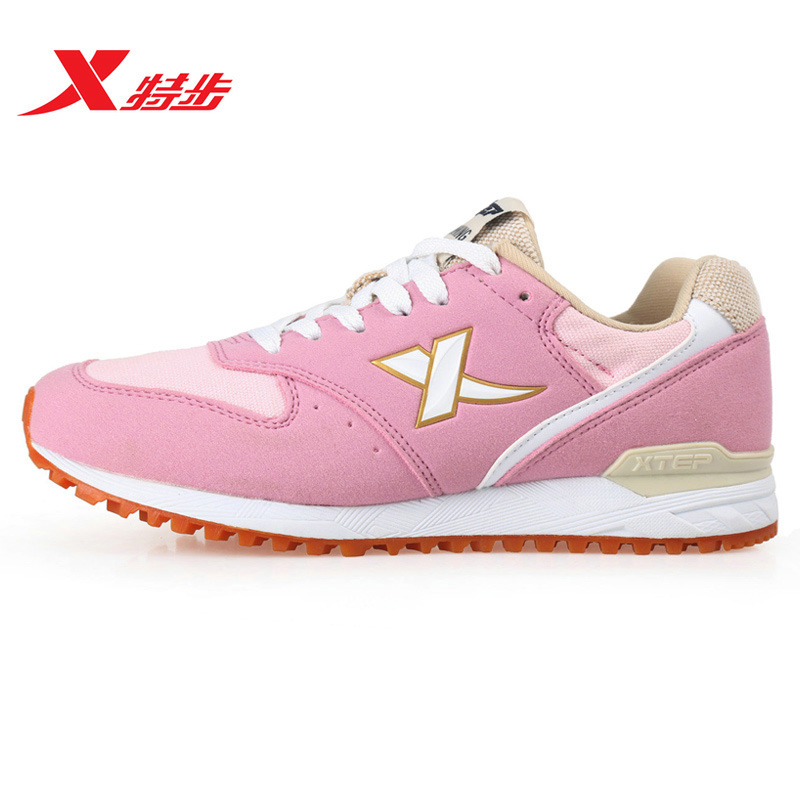 [Official] xtep shoes autumn new running shoes leisure sports shoes women shoes authentic retro running shoes to keep warm