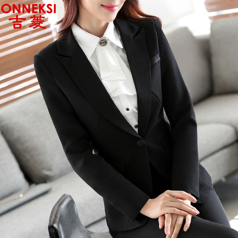 Ol ladies wear overalls suit dress pants suits three sets of black suit overalls spring and autumn