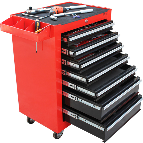 Old a seven 7 layer floor lockable drawer tool cabinet tool cart trolley aftermarket car care maintenance vehicles