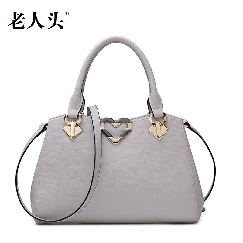 7cde51cf0ec Get Quotations · Old head leather handbags 2016 new ms. bags leather handbags  shoulder messenger bag handbag european